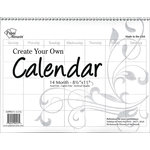 Paper Accents - Create Your Own Calendar - 8.5 x 11 - 14 Month - Landscape - Blank - White