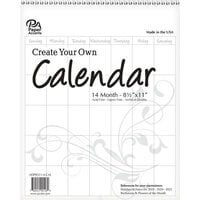 Paper Accents - Create Your Own Calendar - 8.5 x 11 - 14 Month - Portrait - Blank - White