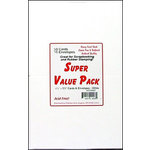 Paper Accents - Super Value Card and Envelope Pack - 4.25 x 5.5 - White