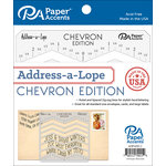 Paper Accents - Templates - Address-a-Lope - Chevron