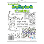 Paper Accents - Creative Coloring Collection - Greeting Cards - Thank You