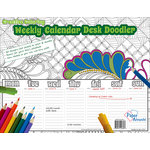 Paper Accents - Creative Coloring Collection - Weekly Desk Calendar - 8.5 x 11