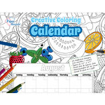 Paper Accents - Creative Coloring Collection - Monthly Calendar - 8.5 x 11