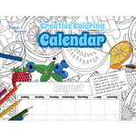 Paper Accents - Creative Coloring Collection - Monthly Calendar - 12 x 12