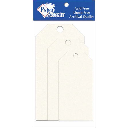 Paper Accents - Craft Tags - Assorted Sizes - Cream
