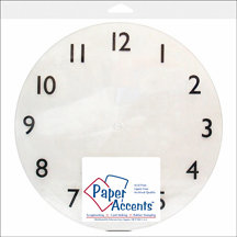 Paper Accents - 10 5/8 Inch Clear Plastic Clock Face - 1-12