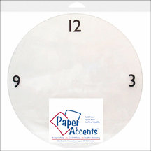 Paper Accents - 10 5/8 Inch Clear Plastic Clock Face - 3-6-9-12