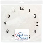 Paper Accents - 12 x 12 Clear Plastic Clock Face - 1-12
