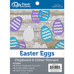Paper Accents - Chipboard and Glitter Pennant - Easter Egg