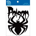 Paper Accents - Halloween - Chipboard Shapes - Poison Spider - Black