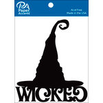 Paper Accents - Halloween - Chipboard Shapes - Wicked Hat - Black