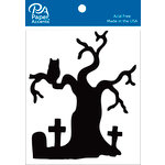 Paper Accents - Halloween - Chipboard Shapes - Graveyard Tree - Black