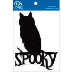 Paper Accents - Halloween - Chipboard Shapes - Spooky Owl - Black