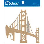 Paper Accents - Chipboard Shapes - Golden Gate Bridge