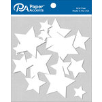 Paper Accents - Chipboard Shapes - Stars - White