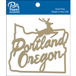 Paper Accents - Chipboard Shapes - Portland Sign