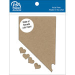 Paper Accents - Chipboard Shapes - State of Nevada with Heart