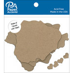 Paper Accents - Chipboard Shapes - State of Hawaii with Heart