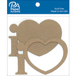 Paper Accents - Chipboard Shapes - I Heart