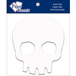 Paper Accents - Halloween - Chipboard Shapes - Skull - White