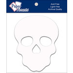 Paper Accents - Halloween - Chipboard Shapes - Sugar Skull - White
