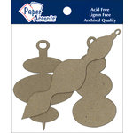Paper Accents - Christmas - Chipboard Shapes - Ornament - Modern