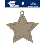 Paper Accents - Christmas - Chipboard Shapes - Ornament - Star