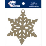 Paper Accents - Christmas - Chipboard Shapes - Ornament - Snowflake