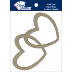 Paper Accents - Chipboard Shapes - Intertwined Hearts