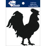 Paper Accents - Chipboard Shapes - Rooster - Black