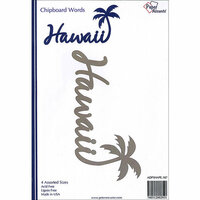Paper Accents - Chipboard Shapes - Hawaii with Palm Tree