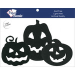 Paper Accents - Halloween - Chipboard Shapes - Jack O' Lanterns - Black