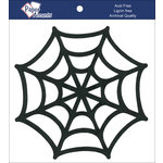 Paper Accents - Halloween - Chipboard Shapes - Spider Web - Black
