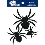 Paper Accents - Halloween - Chipboard Shapes - Spiders - Black
