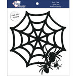 Paper Accents - Halloween - Chipboard Shapes - Spider Web with Spiders - Black