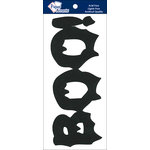 Paper Accents - Halloween - Chipboard Shapes - BOO - Black