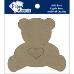 Paper Accents - Chipboard Shapes - Teddy Bear with Heart