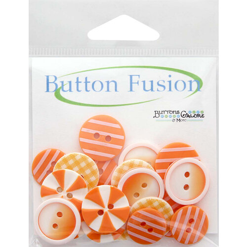 Buttons Galore - Button Fusion Collection - Orange Slices