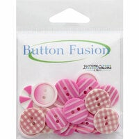 Buttons Galore - Button Fusion Collection - Pink Patchwork