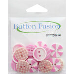 Buttons Galore - Button Fusion Collection - Tickle Me Pink