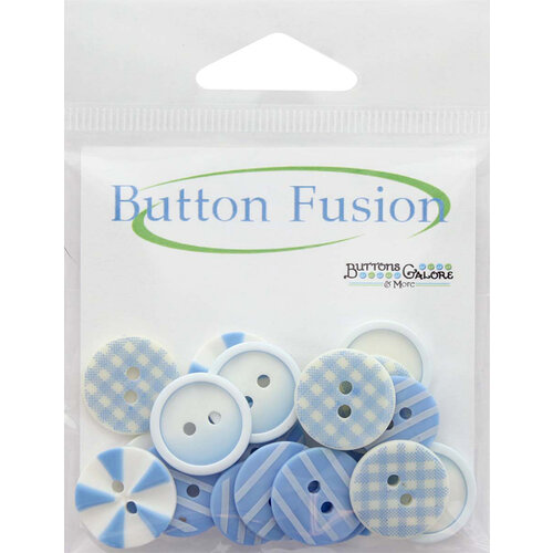 Buttons Galore - Button Fusion Collection - Blues Medley