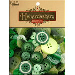 Buttons Galore - Haberdashery Buttons - Classic Greens