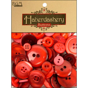 Buttons Galore - Haberdashery Buttons - Classic Reds