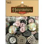 Buttons Galore - Haberdashery Buttons - Classic Black and Silver