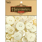 Buttons Galore - Haberdashery Buttons - Classic Ivory and Pearl