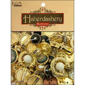 Buttons Galore - Haberdashery Buttons - Classic Gold and Silver