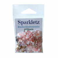 Buttons Galore - Sparkletz Collection - Embellishments - Coral Coast