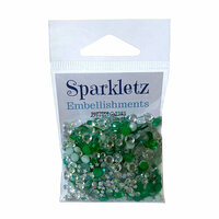 Buttons Galore - Sparkletz Collection - Embellishments - Aquamarine