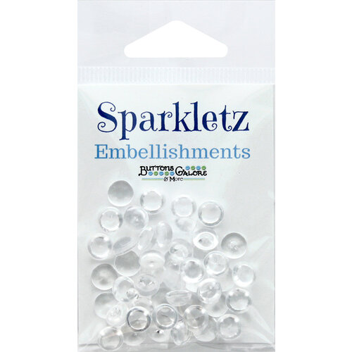Buttons Galore - Sparkletz Collection - Embellishments - Ice