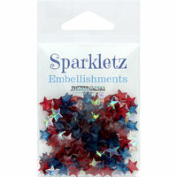 Buttons Galore - Sparkletz Collection - Embellishments - Patriotic Stars